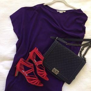 Diane Von Furstenberg Violet Asymmetrical Dress
